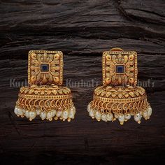 Online Shopping For Fashion, Imitation, Artificial Jewellery For Women Indian Jewelry Earrings, Gold Jhumka Earrings, Jewelry Design Earrings, Gold Earrings Designs, Antique Earrings, Gold Bangles Design, Gold Jewellery Design, Silver Jewellery, Gold Jewelry Simple