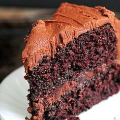 Best Chocolate Cake ( Ever ) - This cake is so rich and divine.. It has a tiny bit of espresso powder which really enhances the chocolate flavor for chocolate lovers, but does not taste like espresso at all. This cake is just pure heaven..