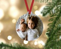 Personalized Photo Christmas Ornament. A wonderful gift for any dog lover Each ornament comes ready to hang with a red ribbon hanger. Made from durable wood which wont break, bend, crack, fade or peel. Wood ornament, both sides printed.  Send your high resolution photo by email to
