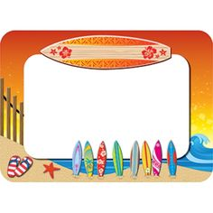 Surf's Up Name Tags, TCR5361