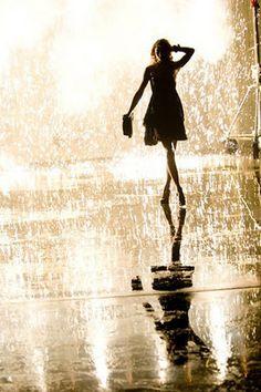 take a walk in the rain
