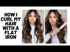 HOW I CURL MY HAIR WITH A FLAT IRON: Flat iron curls