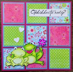Vakjeskaart 3d Cards, Marianne Design, Fabric Scraps, Diy And Crafts, Scrapbook, Kids, Handmade, Pop, Scrappy Quilts
