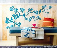 Adesivi Murali Uccelli su albero
