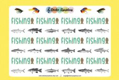 Fishing Planner and Scrapbook Stickers