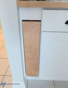Hidden Kitchen Storage Turn A Filler Panel Into Pull Out Cabinet And Kitchens