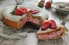 Torta fior di fragola, cuore tenero e cremoso.Una tenera frolla racchiude un cremoso cuore di crema con mascarpone e fragole.