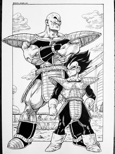 Vegeta and Nappa _ Saiyans are Here by Darko-simple-ART on DeviantArt Manga Anime, Goku Manga, Old Anime, Manga Art, Dragon Ball Z, Orochimaru Wallpapers, Dope Cartoon Art, Black Anime Characters, Comic Art