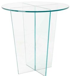 Glass Round Side Table #sidetable