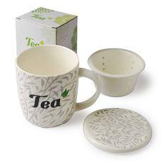 Hrnek se sítkem a víčkem Tea, Mugs, Tableware, Dinnerware, Tumblers, Tablewares, Mug, Dishes, Place Settings