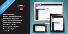 Review Admindo - Responsive Admin TemplateIn our offer link above you will see