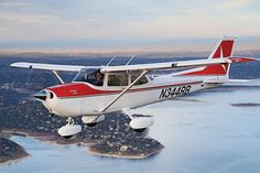 Cessna 172.  Flew one of these. Gotta finish lessons and get my rating!!