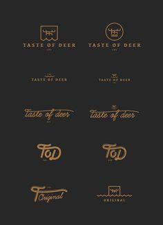 Taste of Deer by Elia Pirazzo, via Behance Jambalaya, Awesome Designs, Visual Identity, Brand Identity, Brand Design, Logo Design Inspiration, Typography Design, Logo Branding, Badges
