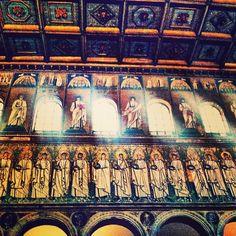 Basilica Di S. Apollinare Nuovo. Mosaic beauty in Ravenna #Italia - Instagram by @ava gwinn Apollo