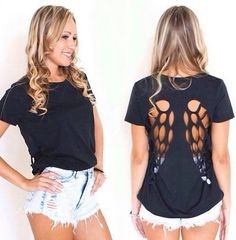 Cute Angel wings DIY shirt for summer.. I want a  couple of these