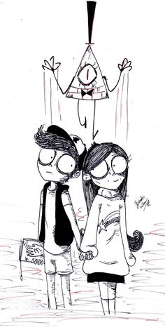 Gravity Falls in Tim Burton Style