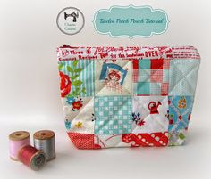 Twelve Patch Zipper Pouch Tutorial - mini charm pack