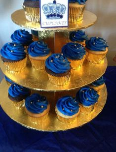 Trendy Baby Shower Ideas For Boys Decorations Prince Royal Blue Baby Shower Cakes, Baby Boy Shower, Prince Birthday Theme, Baby Birthday, Birthday Cupcakes, Prince Cake, Prince Party, Royal Prince, Baby Prince