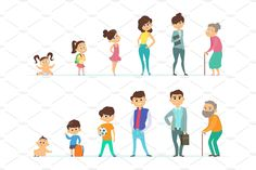 Buy Life Cycle of Male and Female by ONYXprj on GraphicRiver. Life cycle of male and female. Different characters of youth and old age. Man and woman stages growth and aging proce. Early Education, Childhood Education, Human Life Cycle, Korean Drama Movies, Old Age, Games For Teens, Life Drawing, Drawing Stuff, Women Life