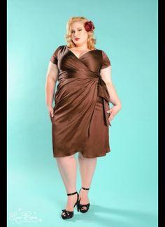 Chocolate Brown Plus Size Dresses