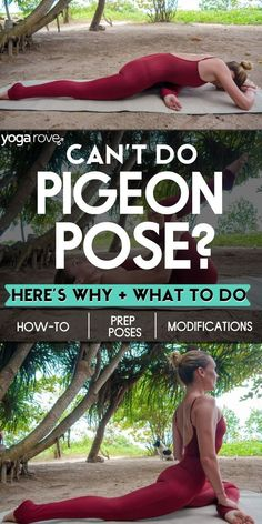Pigeon pose is one of the best hip openers and provides this biggest struggle for beginners. In this article we go over what beginners can do to practice this pose the right way. Yoga Flow, Yoga Meditation, Yoga Pigeon Pose, Yoga Poses For Beginners, Workout For Beginners, Workout Tips, Gym Workouts, Yoga Inspiration, Inspiration Fitness