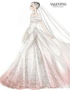 valentino wedding dress sketches pinterest | Valentino-Couture-Wedding-Dress-Sketch | Croquis | Pinterest