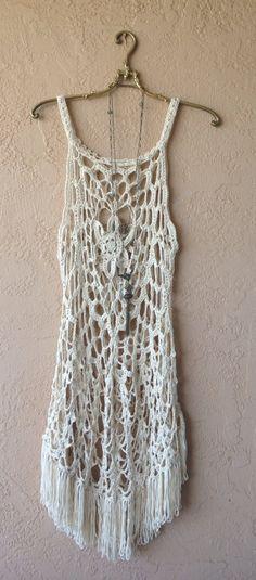 coachella Festival fringe dress   wear over bikini