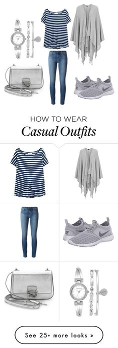 """""""Casual Saturday"""" by sarahfohlen on Polyvore featuring Velvet, Joseph, J Brand, NIKE, Anne Klein, Michael Kors, Spring, weekend and 2k16"""