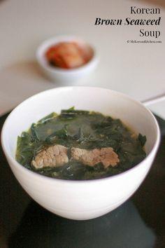 Korean Brown Seaweed Soup (Miyeok Guk) | MyKoreanKitchen.com