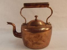 Classic Copper Tea Kettle by TabletopTreasure on Etsy, $138.00