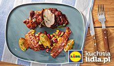 Polędwiczki wieprzowe barbeque z sałatką z fasoli.  Kuchnia Lidla - Lidl Polska. #okrasa #poledwiczka