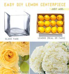 diy lemon centerpiece