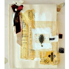 Whimsical Journey - Canvas Journal Project by Kristen Robinson - Stampington - resin papers