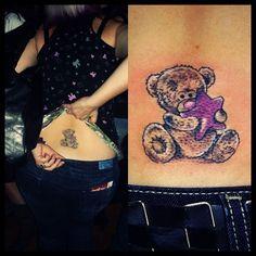 Cute teddy bear tattoo