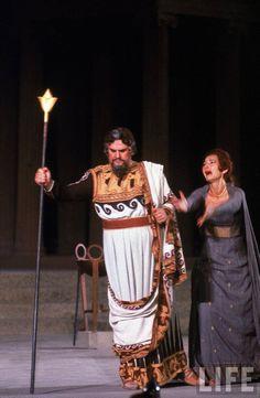 Guiseppe Modest and Maria Callas by John Dominis in Médée by Luigi Cherubini, Epidaurus, Greece, 1961