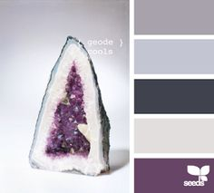 Love this color scheme for a bedroom or bathroom! Design Seeds, Purple Grey, Palette, Purple Gray, Palette Table, Pallet