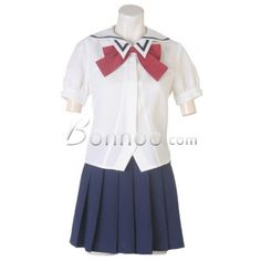 Wholesale Blue And White School Lolita Suit With Red Tie