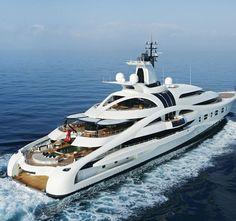 'Palladium' a beautiful megayacht built by Blohm & Vohss in 2010. Length 315 feet