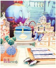 Gorgeous Cinderella birthday party! See more party ideas at CatchMyParty.com!
