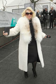 "joan rivers fashion police | Joan Rivers ""Fashion Police"" host Joan Rivers flashes her badge at the ..."