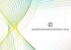 Abstract vector background with blue and green lines.