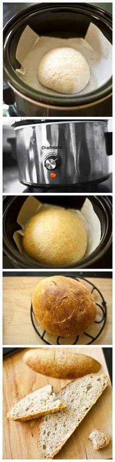 Crock Pot Bread Baking ~ This is such an easy way to bake bread - perfect every . Crock Pot Bread Baking ~ This is such an easy way to bake bread - perfect every . Crock Pot Bread Baking ~ This is such an easy way to bake bread - perfect every time. Crock Pot Bread, Crock Pot Food, Crockpot Dishes, Crock Pot Slow Cooker, Slow Cooker Recipes, Cooking Recipes, Bread Recipes, International Recipes, Bread Baking