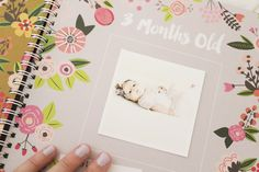 """..they're all from my instagram feed and I used FoxPrint.com to get them done. I chose 3x3 inches with a simple white border and they're working great for my project with this baby book from Lucy Darling..."""