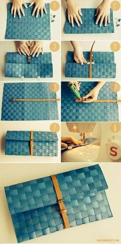 こちらはランチョンマットをクラッチバッグにしている方法です。素材がしっかりしているものを選べば楽しめそうですね!