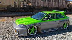 """1997 """"Hulk"""" Honda Civic"""