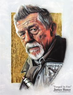 """""""Forged In Fire"""" (Doctor Who / John Hurt) by James Hance"""
