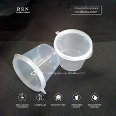 High Quality 1 oz Plastic cups with Lids for Ketchup Hospitality Supplies, Best Uniforms, Restaurant Supply, Kitchenware, Tableware, Restaurant Furniture, Plastic Cups, Ketchup, Cup And Saucer