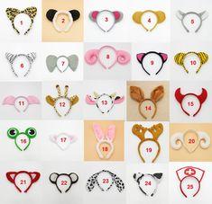Animal Ears Zoo Farm Headband Hair Band Hen Party Fancy Dress Adults Child Kids | eBay