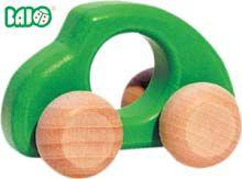 wood toys, green car