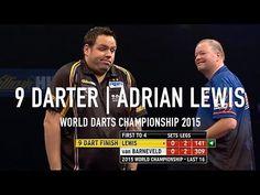 Dart Player Adrian Lewis Scores a Rare Perfect Nine-Dart Finish During the 2015 World Darts Championship